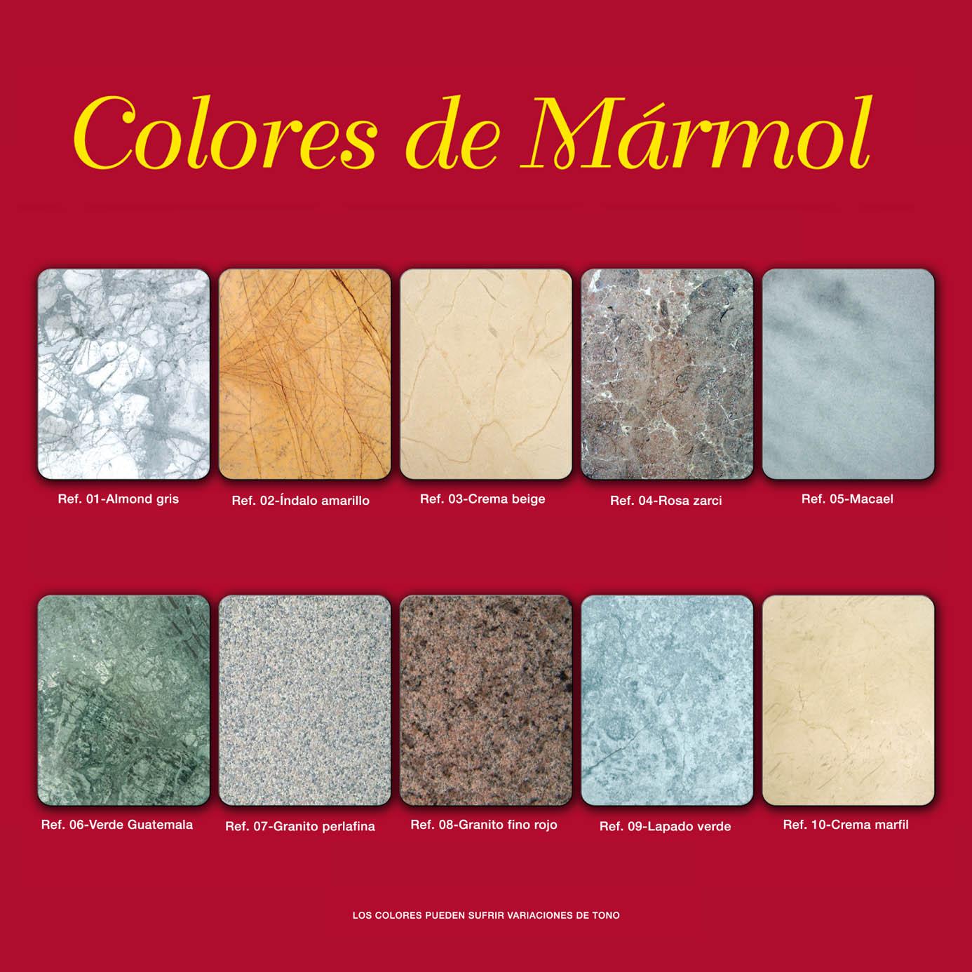 Colores de marmoles y granitos arenisca bachas para bao for Colores de granito y marmol